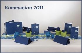 Tischdekoration Blau-Grün