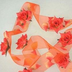 Tischdekoband mit Rosen