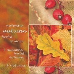 Serviette Herbstblätter