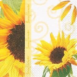 Serviette Blumenmotiv Sunny