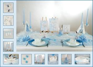 Tischdekoration zur taufe einfach g nstig aber vor allem for Taufe dekoration tisch
