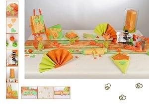 Farbenfrohe Hochzeit Mit Tischdekoration In Grun Orange Tafeldeko