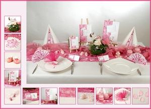 Niedliche Tischdekoration zur Geburt eines kleinen Mädchens ...
