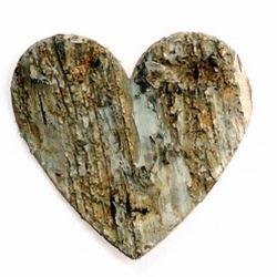 Herz aus Birkenholz