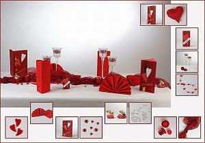 Tischdekoration rot-weiß