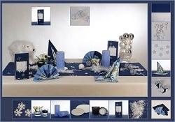 Winterdeko Blau-Silber