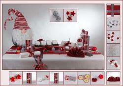 Weihnachtsdeko weiß-rot