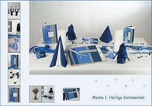 Kommunion-Tisch-blau