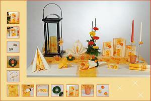 Tisch-orange-gelb