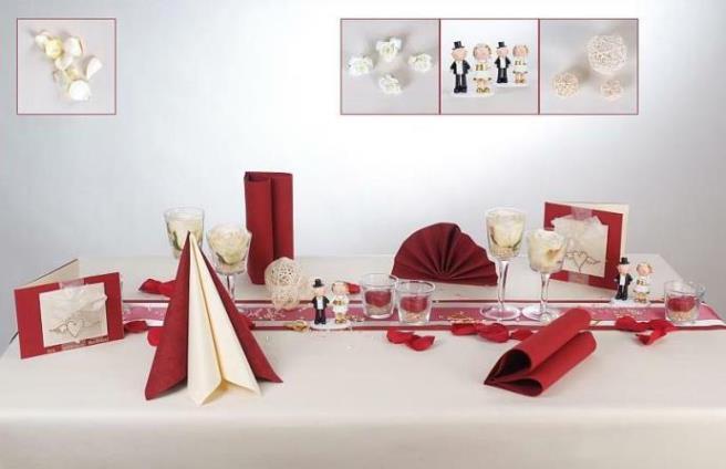 tischdeko in rot und creme f r die goldene hochzeit tafeldeko. Black Bedroom Furniture Sets. Home Design Ideas