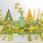 Tischdekoration-taufe_gruen-gelb