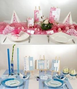 traufe trauung taufe zeitgleich zwei anl sse feiern mit tischdeko in rosa oder blau tafeldeko. Black Bedroom Furniture Sets. Home Design Ideas