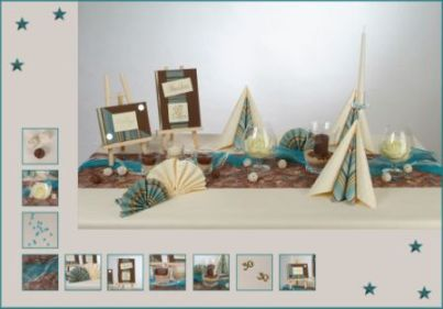 eine blau braune tischdekoration verzaubert den. Black Bedroom Furniture Sets. Home Design Ideas