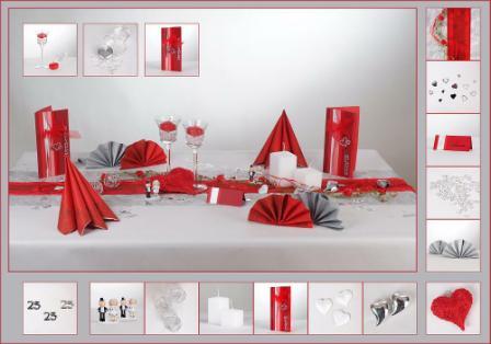 Tischdekoration zur feier der silbernen hochzeit ein - Tischdekoration zur hochzeit ...