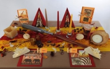 Tischdeko herbst kindergarten  Tischdeko mit afrikanischem Touch – auf geht's zur Safari auf dem ...