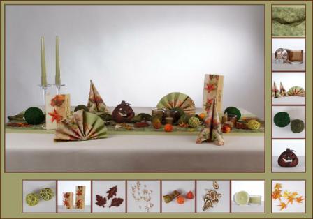 Tischdekoration Geburtstag Herbst Geburtstag Herbst-deko