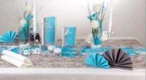 Ein Traum in türkis zur Hochzeit – wunderschöne Tischdekoration ...