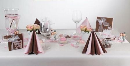 ... Hochzeit » Ein Traum aus rosa und braun für die Hochzeitstischdeko