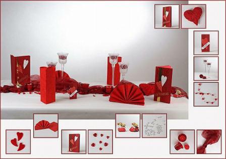 hochzeitstischdeko der klassiker in rot tafeldeko. Black Bedroom Furniture Sets. Home Design Ideas