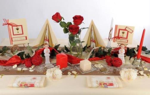 Strahlende und trendige Tischdeko zur Konfirmation  Tafeldeko