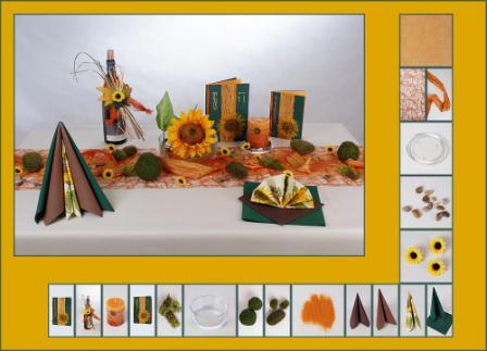 tischdekorationen im herbst mit sonnenblumen tafeldeko. Black Bedroom Furniture Sets. Home Design Ideas