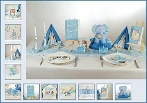 Tischdekoration In Blau Fur Die Taufe Tafeldeko