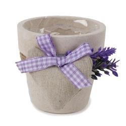 Deko im Oktober Lavendeltopf