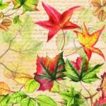 Tischdeko im September Servietten Herbstzeit