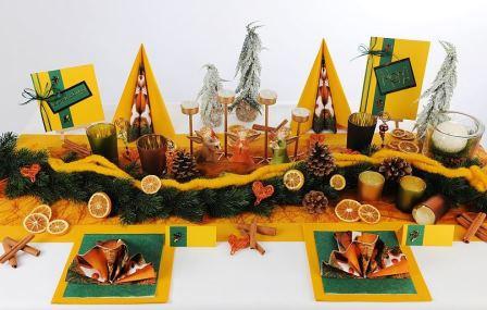 Tischdeko Weihnachten Orange