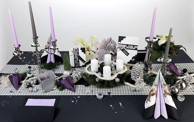 Tischdeko weihnachten lila  Tischdeko zu Heiligabend | Tafeldeko
