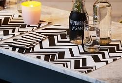 Tischdeko Black and White
