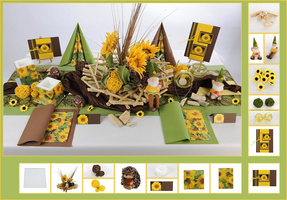 Geburtstags Tischdeko Mit Sonnenblumen Tafeldeko