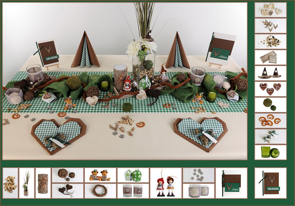 Tischdeko november mit herbstlichem touch tafeldeko for Tafel deko