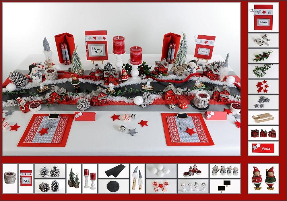 Weihnachts Tischdeko In Rot Tafeldeko