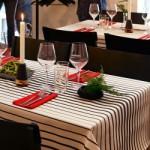 Tischdeko schwarz-weiß