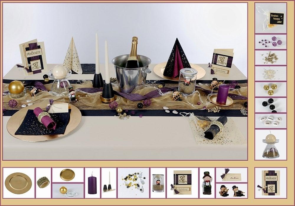 silvester tischdeko. Black Bedroom Furniture Sets. Home Design Ideas