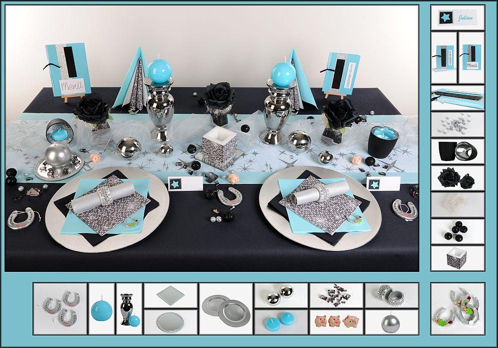 Silvester Tischdeko im Farbmix | Tafeldeko