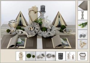 Tischdeko Naturmaterialien