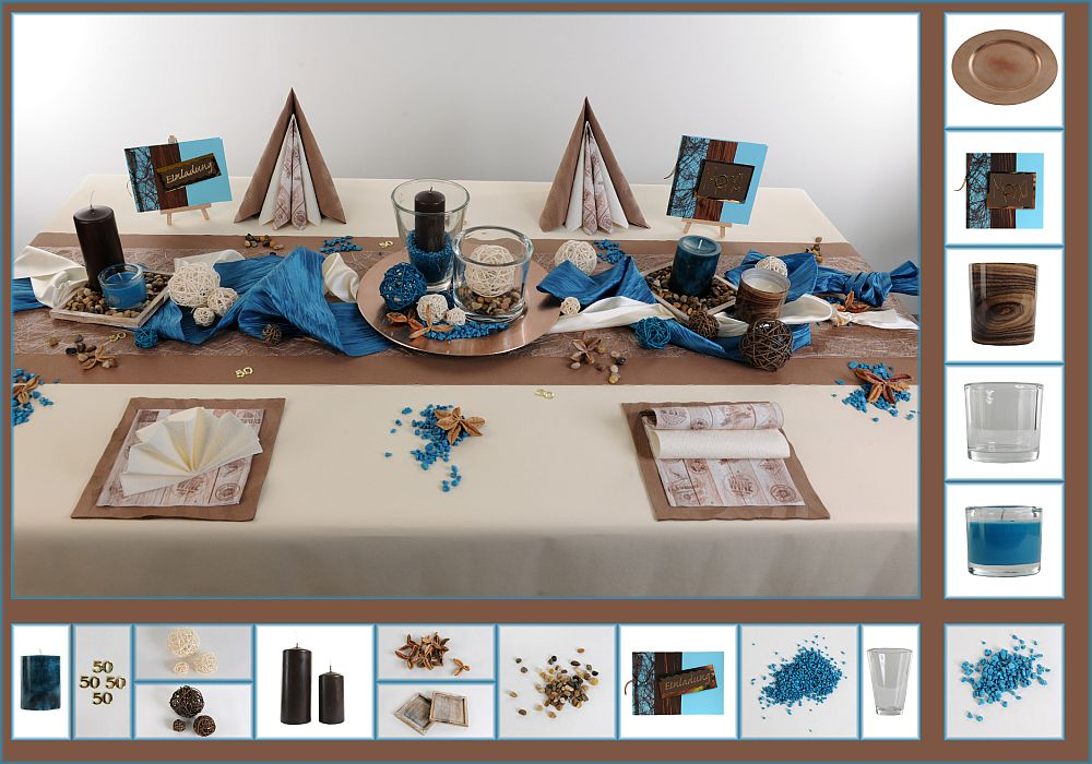 tischdeko geburtstag dezent und eindrucksvoll tafeldeko. Black Bedroom Furniture Sets. Home Design Ideas