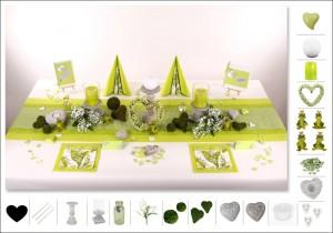 Hochzeitsdeko grün