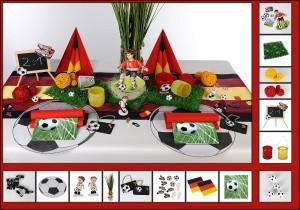 Fußball Tischdeko