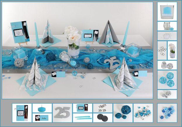 Silberne Hochzeit Tischdeko