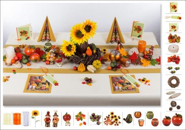 Tischdeko Erntedankfest