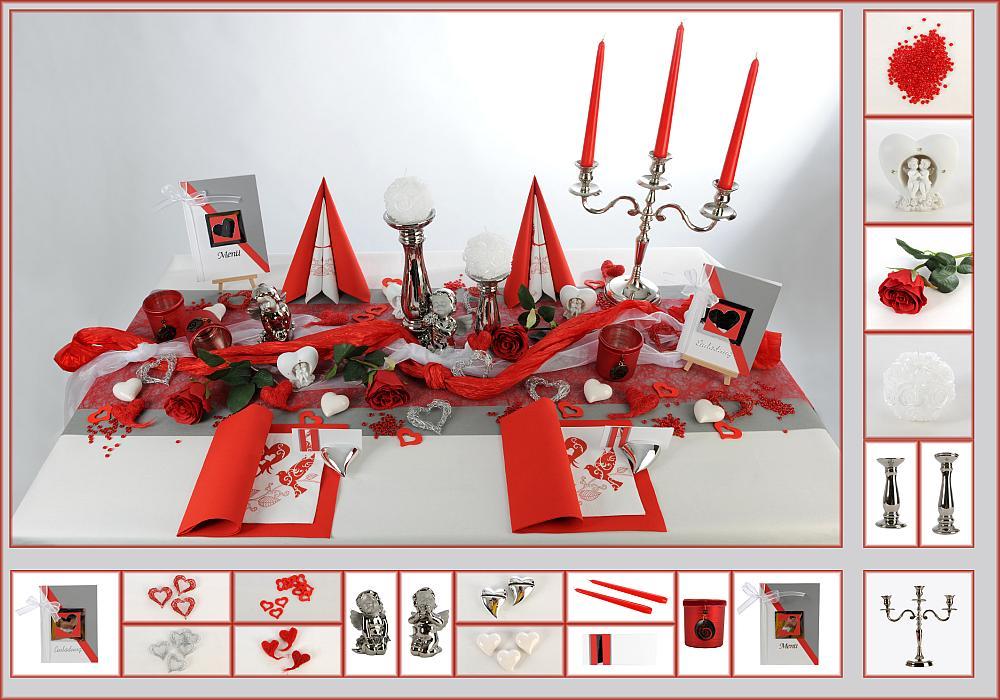 tischdeko hochzeit ein traum in rot und wei tafeldeko. Black Bedroom Furniture Sets. Home Design Ideas