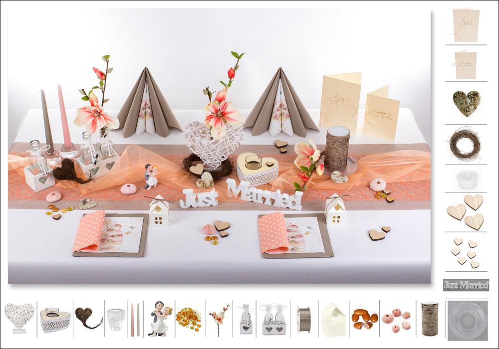 deko hochzeitstisch ein traum mit apricot tafeldeko. Black Bedroom Furniture Sets. Home Design Ideas