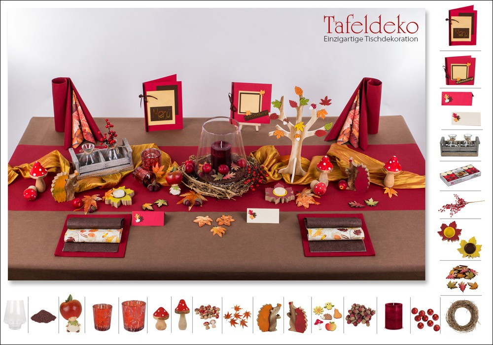 Tischdeko herbst in wundersch nen farben tafeldeko - Bayrische tischdeko ...