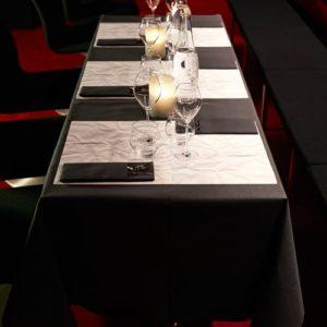 Tischdeko schwarz weiß
