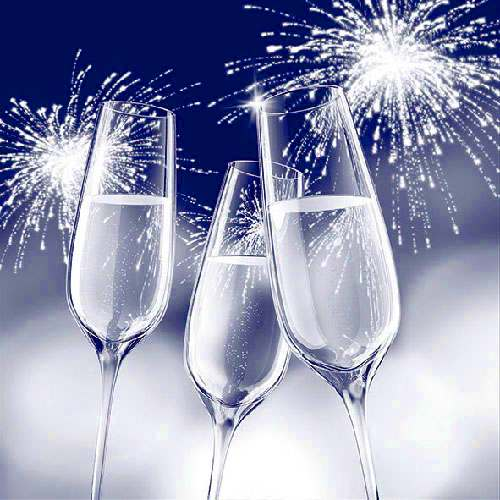 Tischdeko Neujahrsempfang Prosit Neujahr Tafeldeko