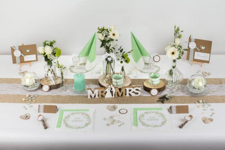 Hochzeitsdeko mit Naturmaterialien