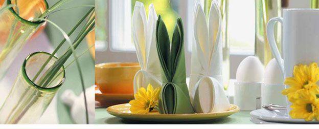 servietten falten falten sie eine serviette zum osterhasen. Black Bedroom Furniture Sets. Home Design Ideas